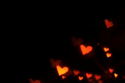 A bokeh of hearts